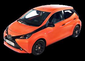 Orange Toyota Aygo Car