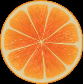 Perfect Orange Halved