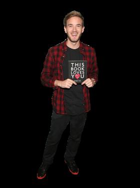 Pewdiepie holding book