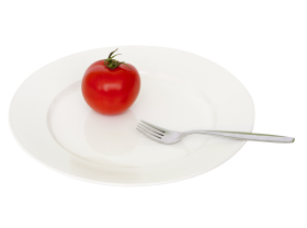 Plate Tomato Fork