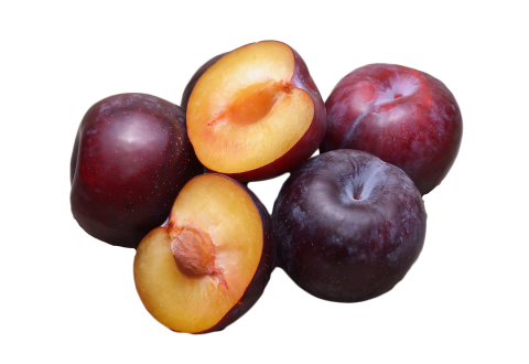 Plums Halved
