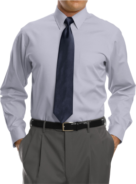 Point Collar Dress Shirt
