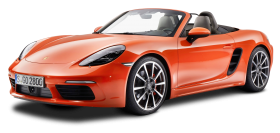 Porsche 718 Boxster S Orange Car