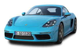 Porsche 718 Cayman S Blue Car