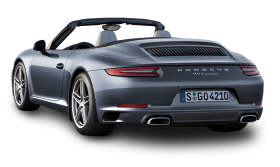 Porsche 911 Carrera Back View Car
