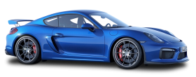 Porsche Cayman GT4 Blue Car