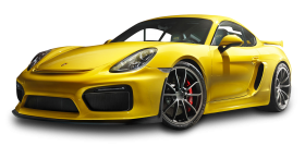 Porsche Cayman GT4 Yellow Car