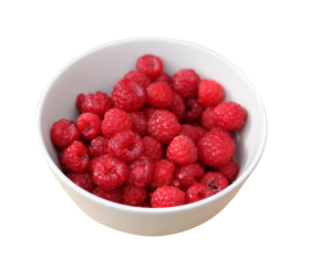 Raspberry in Bowl