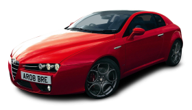 Red Alfa Romeo Brera S Car