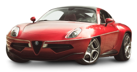 Red Alfa Romeo Disco Volante Car