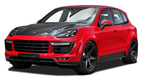 Red and Black Porsche Cayenne Car