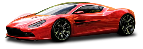 Red Aston Martin DBC Car