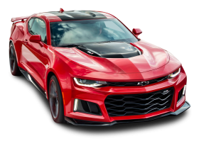 Red Chevrolet Camaro ZL1 Front Side Car