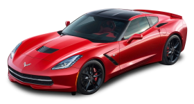 Red Chevrolet Corvette Stingray Top View Car