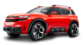Red Citroen Aircross Car