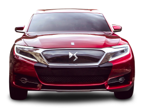 Red Citroen DS Wild Rubis Front View Car