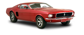 Red Ford Mustang Mach Car