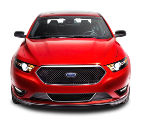 Red Ford Taurus Front Car