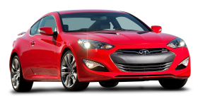 Red Hyundai Genesis Car