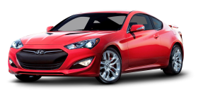 Red Hyundai Genesis Coupe Car