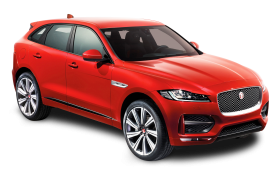 Red Jaguar F PACE Car