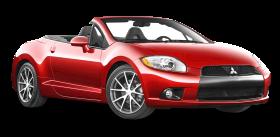 Red Mitsubishi Eclipse Spyder Car