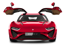 Red NanoFlowcell Quant F Modern Car