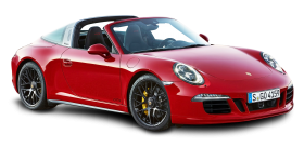 Red Porsche 911 Targa 4 GTS Car