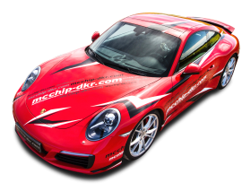 Red Porsche 991 Carrera S Racing Car