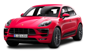 Red Porsche Macan GTS Car