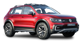 Red Volkswagen Tiguan GTE Active Car