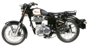 Royal Enfield Classic Black Motorcycle