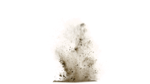 Sand Explosion PNG