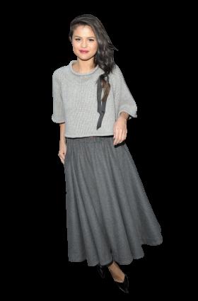 Selena Gomez Grey Dress
