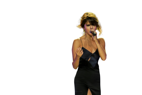 Selena Gomez Singing on Stage