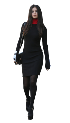 Selena Gomez Walking in Black
