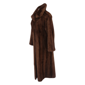 Sexy Women Yves Salomon fur coat brown