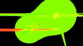 Side Green Lens Flare