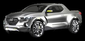 Silver Hyundai Santa Cruz Crossover Car