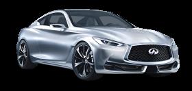Silver Infiniti Q60 Car