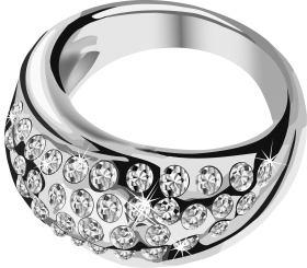 Silver Ring  With Diamond