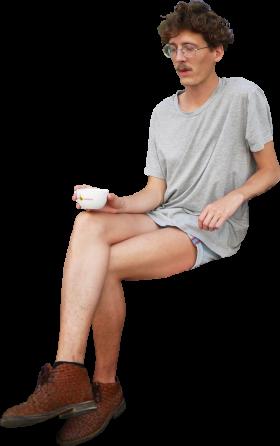 Sitting Coffee