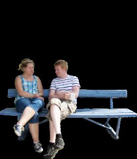 Sitting Park Bench