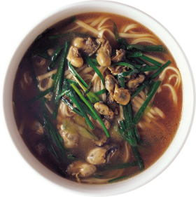 japanese Ramen Soup with noodles and mushrooms