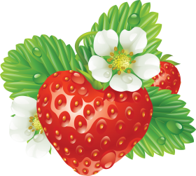 Strawberry Heart-Shaped