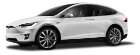 Tesla Model X White Car