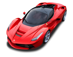 Top View of Ferrari LaFerrari Car