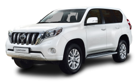 Toyota Land Cruiser White Car