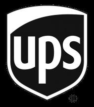 UPS Black and White Logo