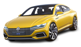 Volkswagen Sport Coupe GTE Yellow Car
